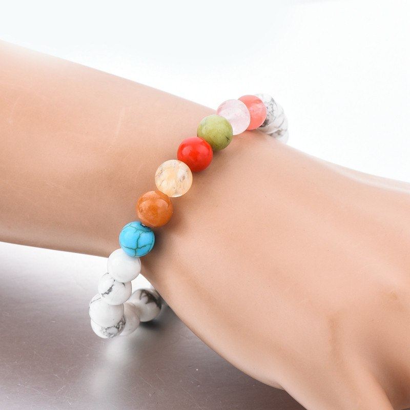 Classic White Turquoise Beads Bracelets - Hilltop Apparel - 3