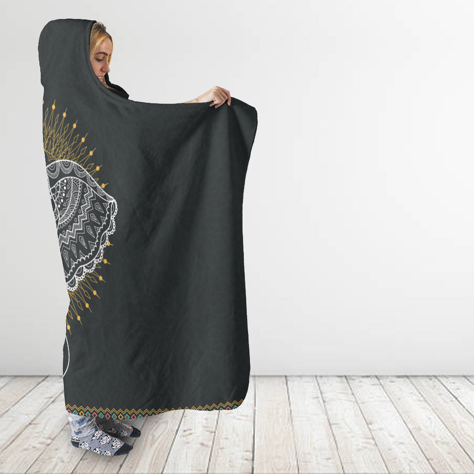 Abstract Elephant Hooded Blanket