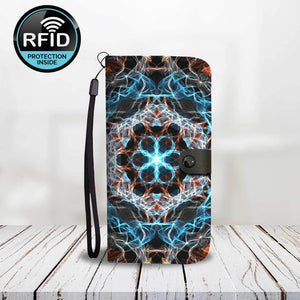 Fiery Mandala Wallet Phone Case