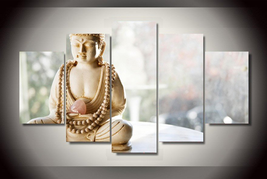 Peaceful Buddha Canvas - Hilltop Apparel - 1