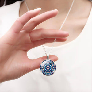 Buddhist Multi Color OM Pendant Necklace - Hilltop Apparel - 11