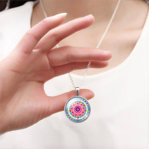 Buddhist Multi Color OM Pendant Necklace - Hilltop Apparel - 12