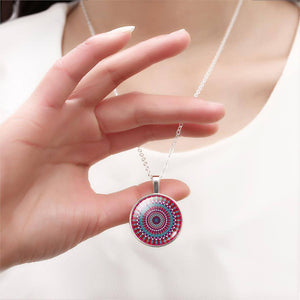 Buddhist Multi Color OM Pendant Necklace - Hilltop Apparel - 13