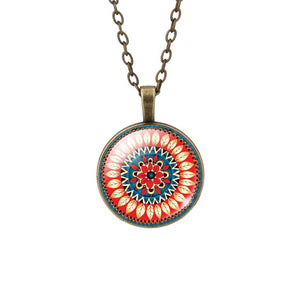 Buddhist Multi Color OM Pendant Necklace - Hilltop Apparel - 14