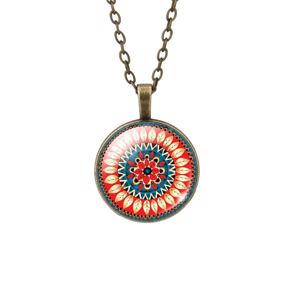 Buddhist Multi Color OM Pendant Necklace - Hilltop Apparel - 2