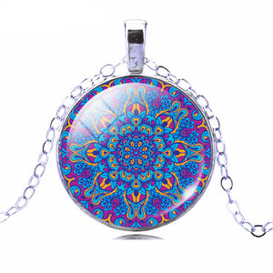 Buddhist Multi Color OM Pendant Necklace - Hilltop Apparel - 3