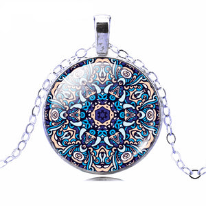Buddhist Multi Color OM Pendant Necklace - Hilltop Apparel - 5