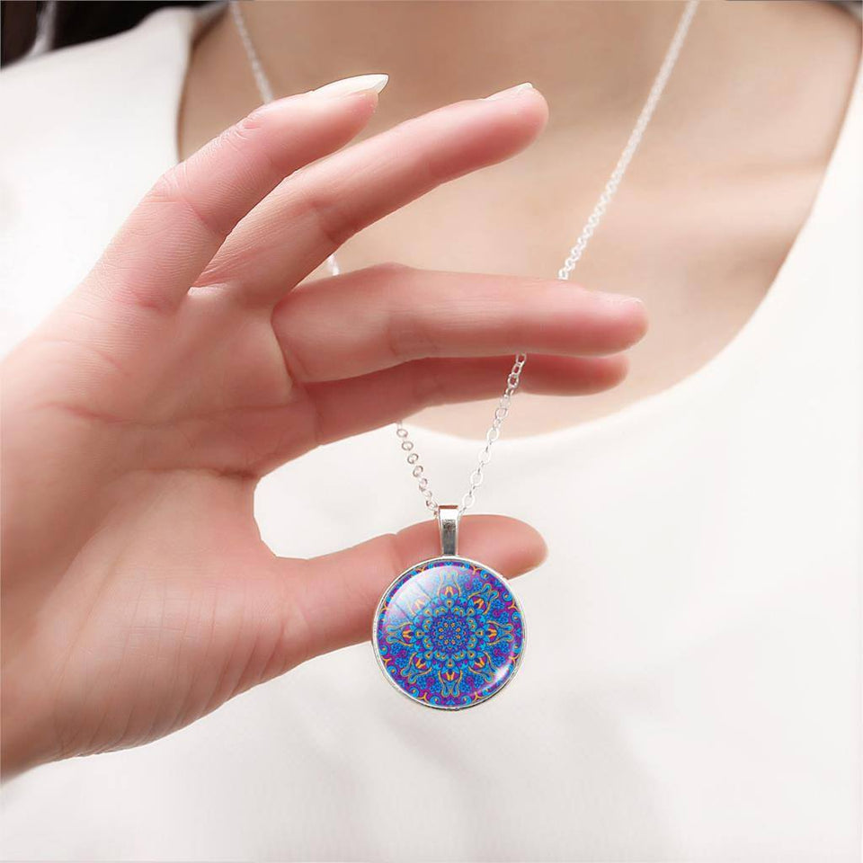 Buddhist Multi Color OM Pendant Necklace - Hilltop Apparel - 9