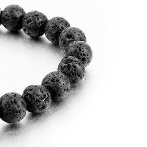 Lava Stone with Multicolor Natural Stones Bracelet. - Hilltop Apparel - 6