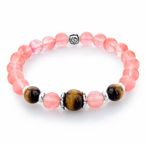 Rose Quartz Natural Stone Bracelet. - Hilltop Apparel - 1