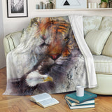 Tiger & Eagle Premium Blanket