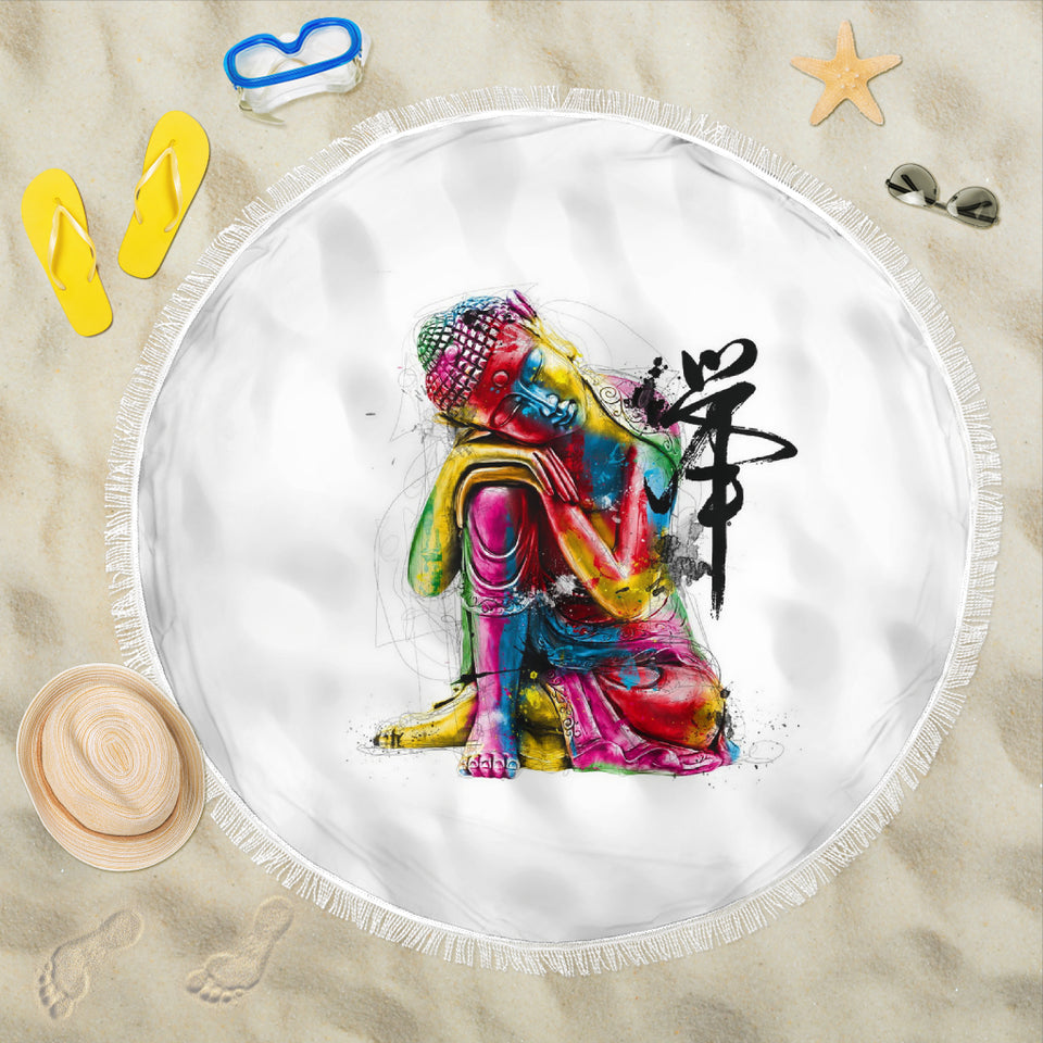Abstract Buddha Beach Blanket