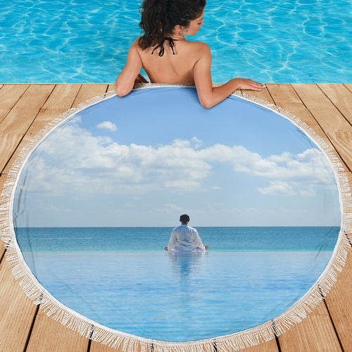 Peaceful Meditation Beach Blanket