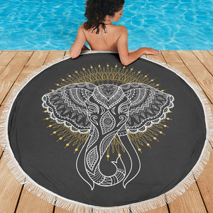 Elephant Abstract Beach Blanket