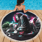 Buddha Pop Art Beach Blanket