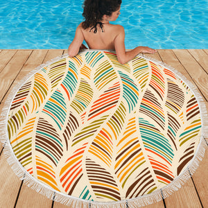 Colorful Abstract Beach Blanket