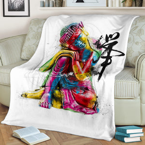 Abstract Buddha Premium Blanket