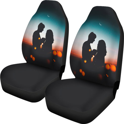 Silhouette Love Car Seat Cover