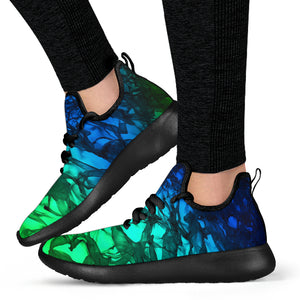 Abstract Moving Mesh Knit Sneaker