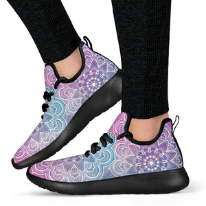 Faded Mandala Mesh Knit Sneaker