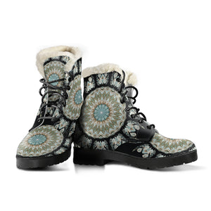 Mandala 3 Faux Fur Leather Boots