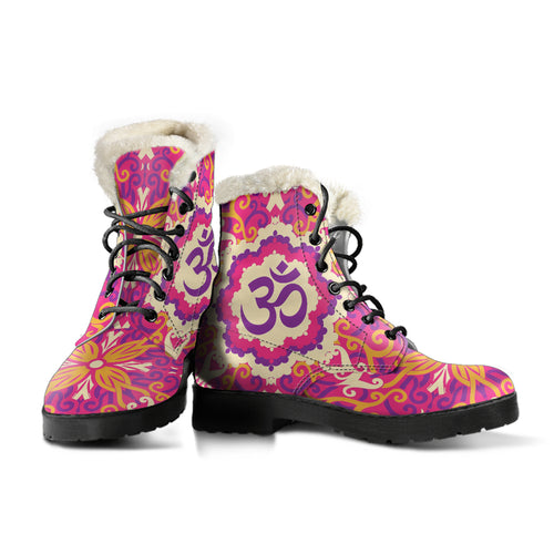 Ohm Mandala 2 Faux Fur Leather Boots