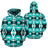 Teal Winter Camp Sokapi Hoodie