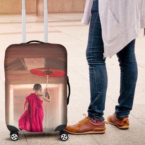 Young Monk Luggage Cover