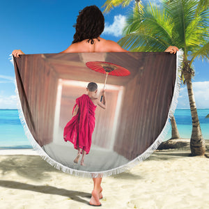 Young Monk Beach Blanket