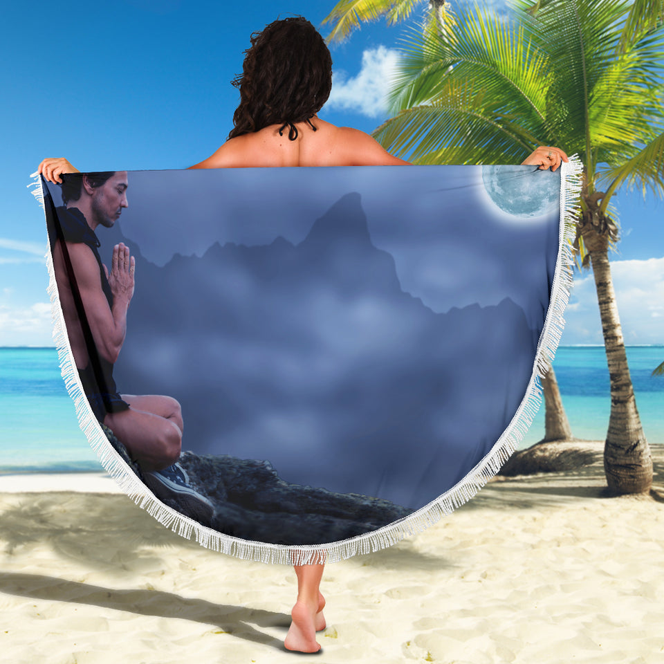 Moonlight Meditation Beach Blanket