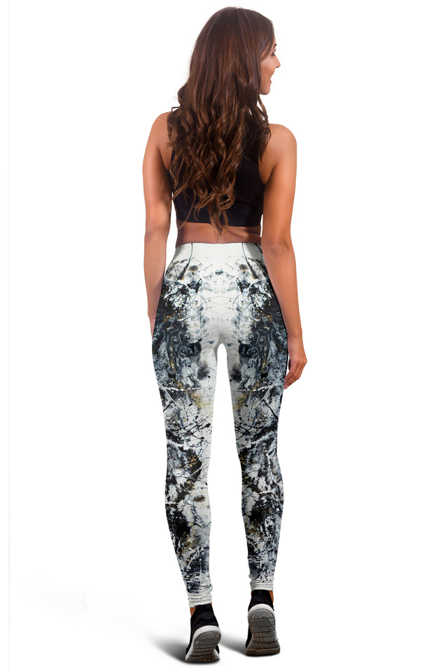 Black White Modern Leggings