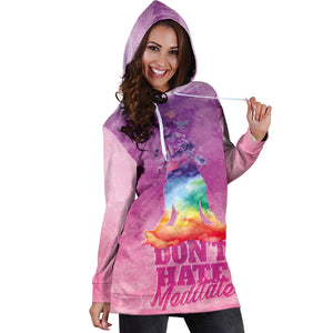 Don't Hate - Meditate Hoodie Dress
