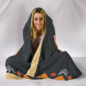 Abstract Wolf Hooded Blanket