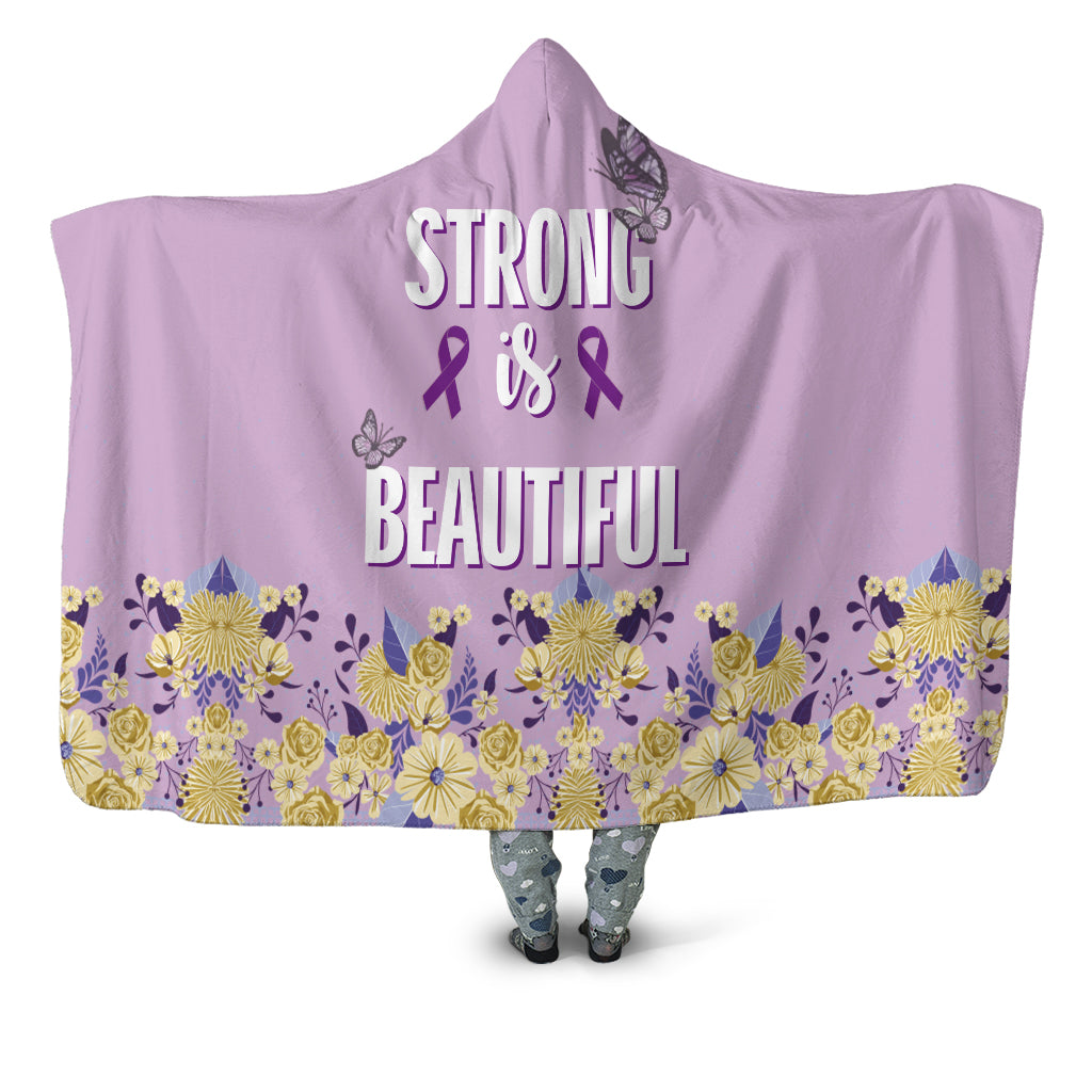 Strong & Beautiful Hooded Blanket