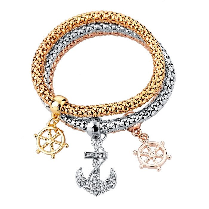 collections luxury bracelet goldoni designer rhodium milano wheel ship jewelry