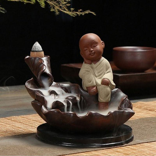 Incense - Relaxing Monk Backflow Incense Burner
