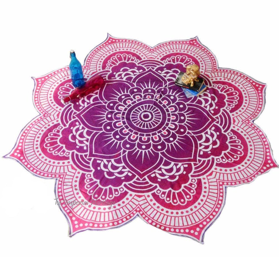 Lotus Buddhist Beach/Park Towel - Hilltop Apparel - 3