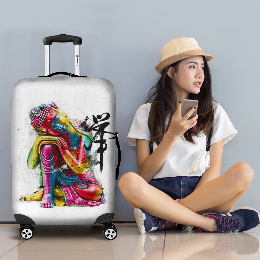 Abstract Buddha Luggage Cover