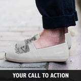 Abstract Zen Wolf Casual Shoes
