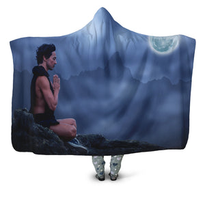Moonlight Meditation Hooded Blanket