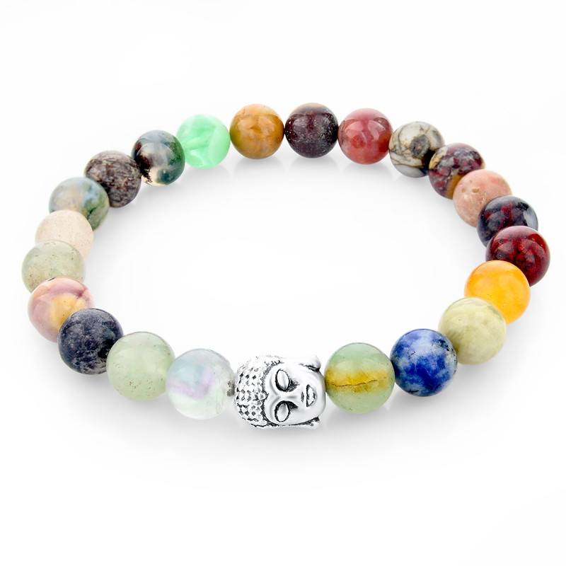 Multicolor Natural Stone Bracelets - Hilltop Apparel - 1