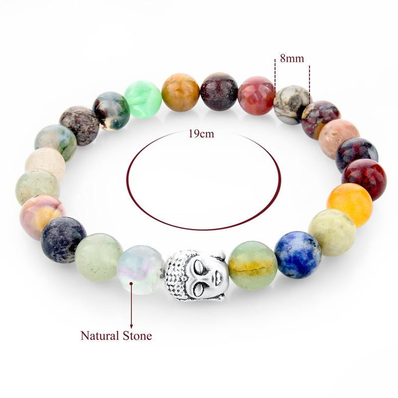 Multicolor Natural Stone Bracelets - Hilltop Apparel - 2