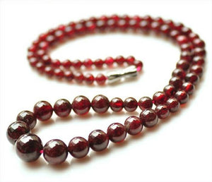"Natural Red Garnet Beads Necklace 20"" - Hilltop Apparel - 1"