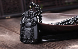 Necklace - Black Obsidian Xuanwu Emperor Necklace