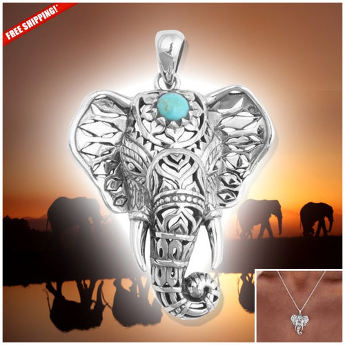 Necklace - Turquoise Elephant Necklace