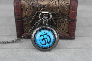 OM Vintage Pocket Watch Pendant - Hilltop Apparel - 1