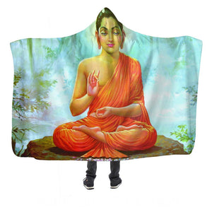Peaceful Buddha Hooded Blanket