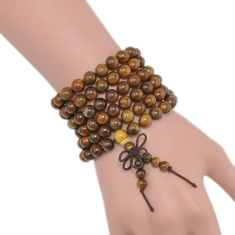 Sandalwood 108 Beads Mala Bracelet/Necklace. - Hilltop Apparel - 1