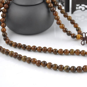 Sandalwood 108 Beads Mala Bracelet/Necklace. - Hilltop Apparel - 3