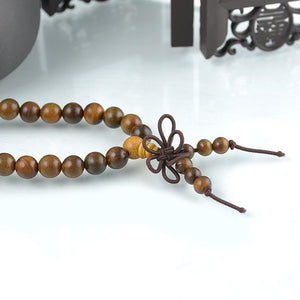 Sandalwood 108 Beads Mala Bracelet/Necklace. - Hilltop Apparel - 4